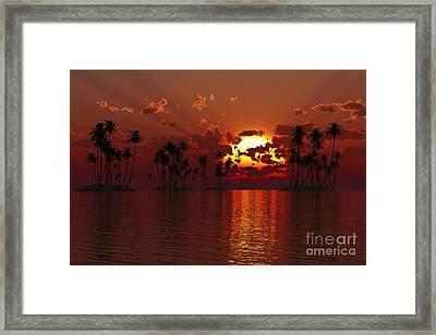 Coconut Tropic Islands Framed Print