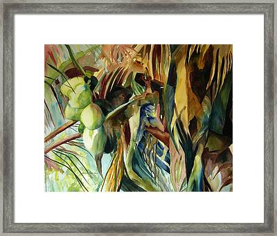 Coconuts And Palm Fronds 5-16-11 Julianne Felton Framed Print