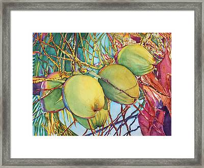 Coconuts At Sunset Framed Print