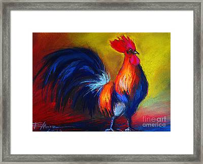 Cocorico Coq Gaulois Framed Print by Mona Edulesco
