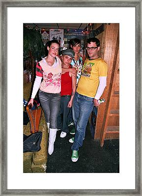 Cocorosie With David Sitek Of Tv On The Radio Framed Print