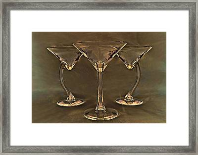 Coctail's At Sunset Framed Print by Marcia Colelli
