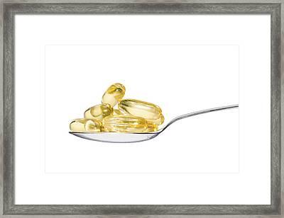 Cod Liver Oil Capsules Framed Print