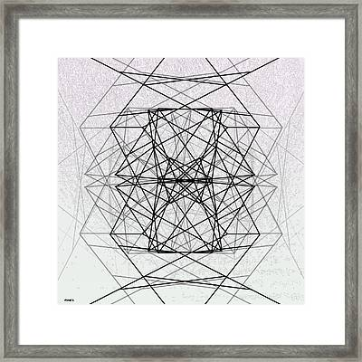 Code Framed Print by Morgan  Ralston