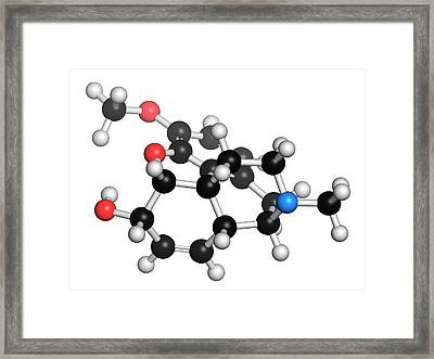 Codeine Pain And Cough Relief Drug Framed Print by Molekuul