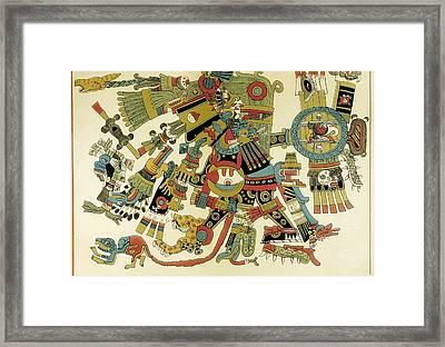 Codex Borgia. Ritual And Divinatory Framed Print