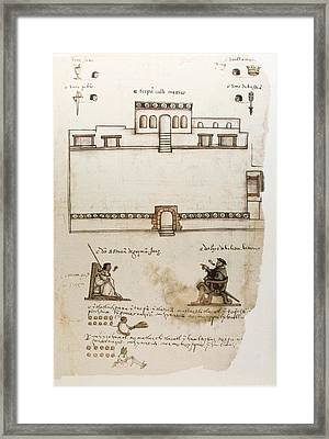 Codex Osuna C�dice Osuna. 16th C Framed Print by Everett