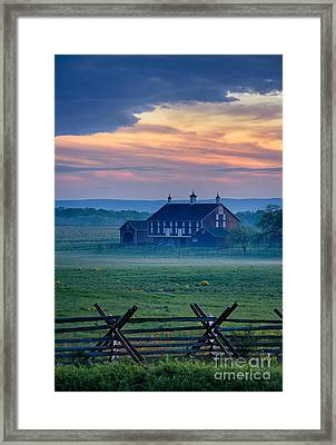 Codori Farm And Gettysburg Battlefield Framed Print by John Greim