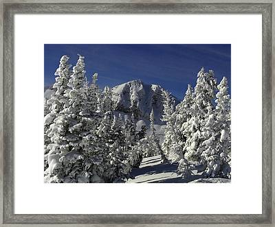 Cody Peak After A Snow Framed Print by Raymond Salani III