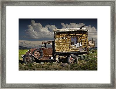 Cody Wyoming Truck Signpost Framed Print by Randall Nyhof