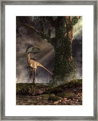 Coelophysis Framed Print by Daniel Eskridge