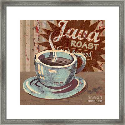 Cofee Brew Sign IIi Framed Print by Paul Brent