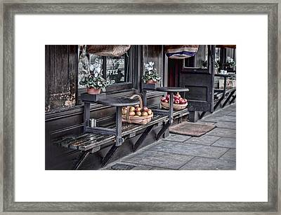 Coffe Shop Cafe Framed Print by Heather Applegate