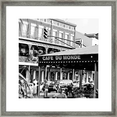 Coffee And Beignets Framed Print