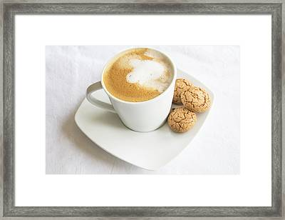 Coffee And Biscotti Framed Print