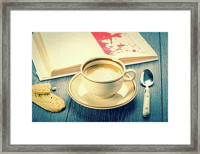 Coffee And Biscuits Framed Print by Wladimir Bulgar