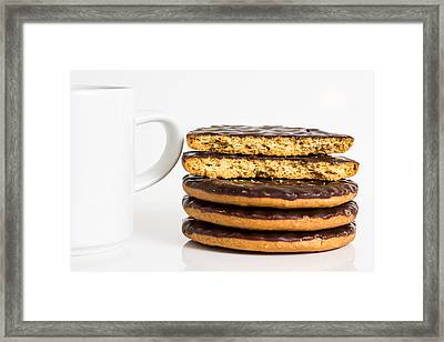 Coffee And Cookies. Framed Print by Gary Gillette