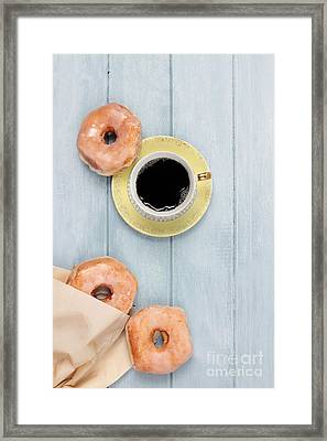 Coffee And Doughnuts Framed Print