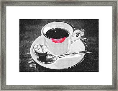 Coffee And Lipstick Framed Print