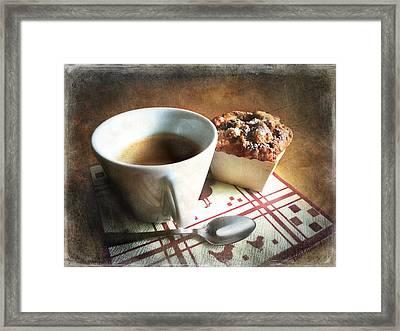 Coffee And Muffin Framed Print by Barbara Orenya