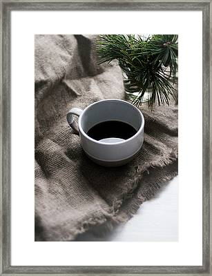 Coffee And Pine Framed Print