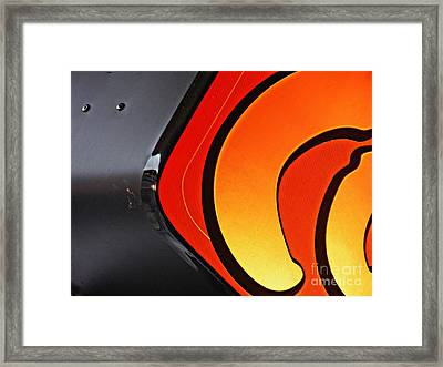 Coffee At Dunkin Donuts Framed Print