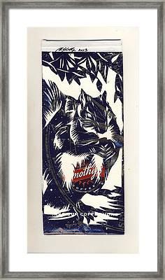 Coffee Bag Squirrel Framed Print