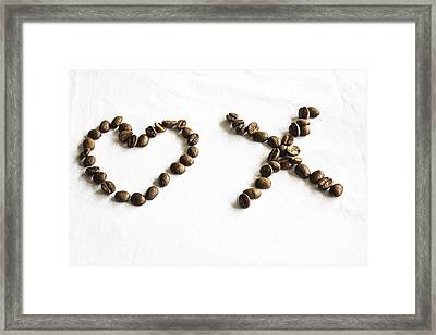 Coffee Bean Love Framed Print by Georgia Fowler