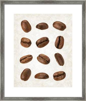 Coffee Beans Framed Print by Danny Smythe