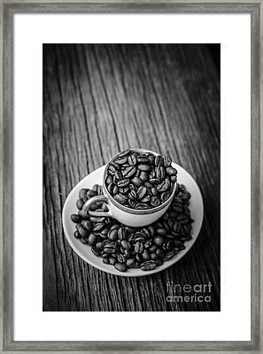 Coffee Beans Framed Print by Edward Fielding
