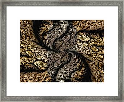 Framed Print featuring the digital art Coffee Beans by Lea Wiggins