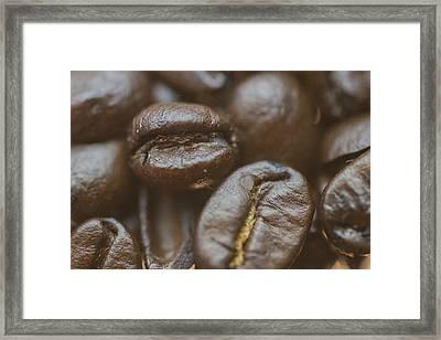 Coffee Beans Macro 2 Framed Print