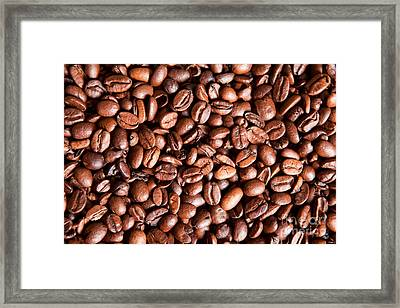 Coffee Beans  Framed Print by Sharon Dominick