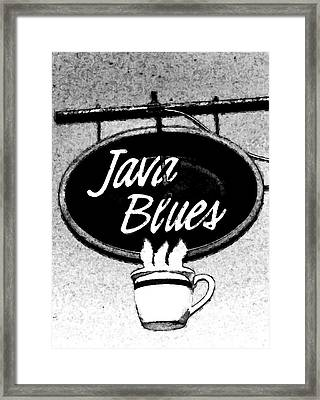Coffee Blues  Framed Print by Juls Adams