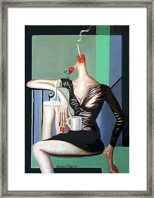 Coffee Break Framed Print by Anthony Falbo