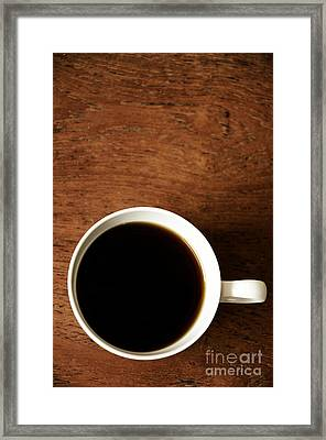 Coffee Break Framed Print by Birgit Tyrrell