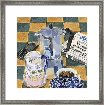 Coffee Break Framed Print by Jane Dunn Borresen