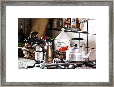 Coffee Break Framed Print by Salvatore Meli