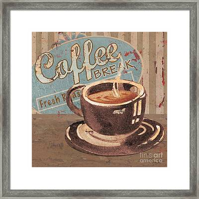 Coffee Brew Sign Iv Framed Print by Paul Brent