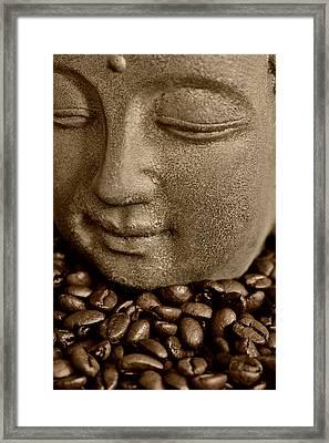 Coffee Buddha 2 Framed Print by Falko Follert