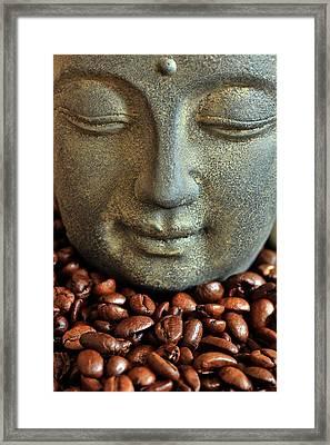 Coffee Buddha 3 Framed Print by Falko Follert