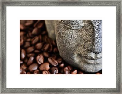 Coffee Buddha 4 Framed Print by Falko Follert