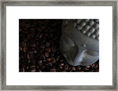 Coffee Buddha 6 Framed Print by Falko Follert
