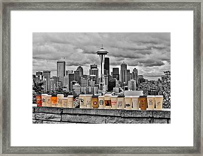 Coffee Capital Framed Print by Benjamin Yeager