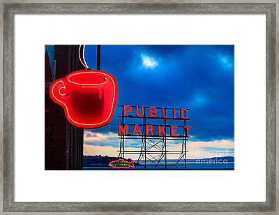 Coffee Clouds Framed Print by Inge Johnsson