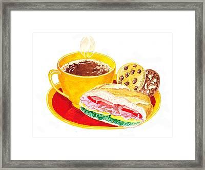 Coffee Cookies Sandwich Lunch Framed Print by Irina Sztukowski