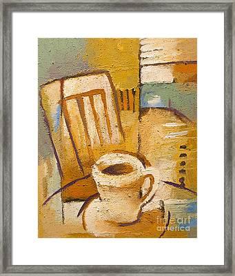 Coffee Corner Framed Print by Lutz Baar