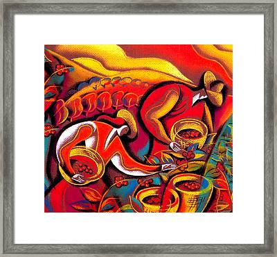 Coffee Crops Framed Print by Leon Zernitsky