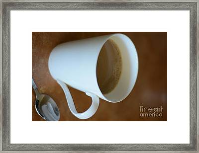 Coffee Cup 01 Framed Print by Bobby Mandal
