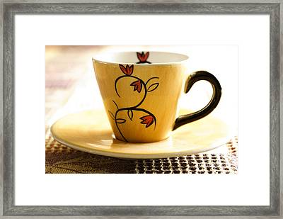 Coffee Cup Framed Print by Blink Images
